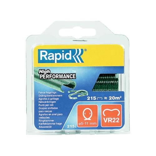 Spony plotové VR22, 1100 ks, zelené, blister, RAPID