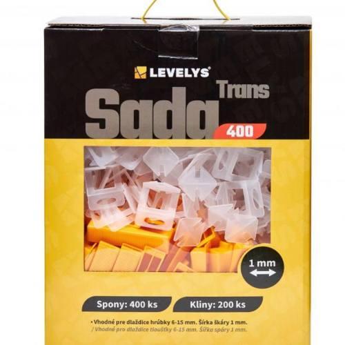SET TRANS 400, spony 1 mm 400 ks + klinky 200 ks, LEVELYS
