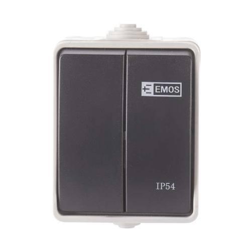 Prepínač 250V / 10AX, IP54, 2 tlačidlá