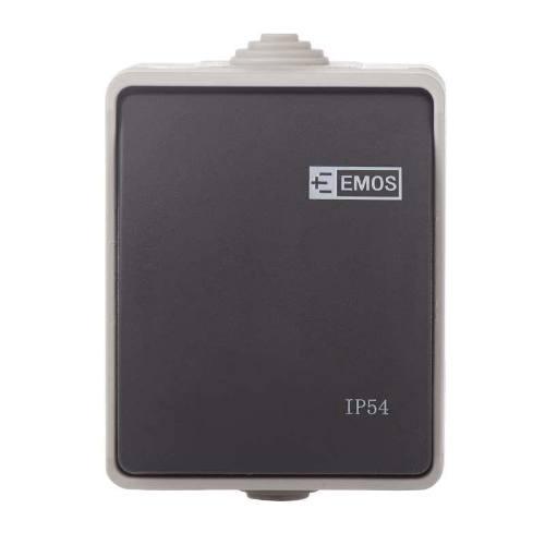 Prepínač 250V / 10AX, IP54, 1 tlačidlo