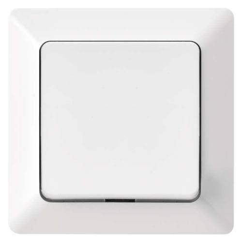 Prepínač krížový jednotlačítkový, biely