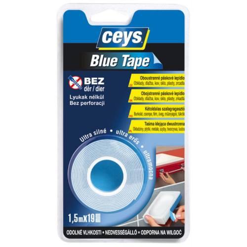 Lepidlo obojstranné páskové Blue Tape, 1,5 mx 19 mm