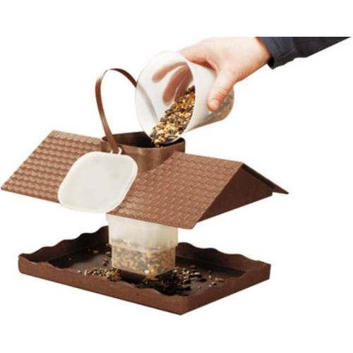 Kŕmidlo pre vtáčiky, drevoplast 31x21x18 cm