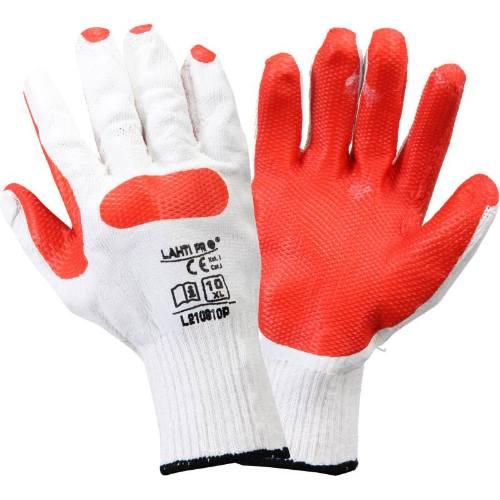 Rukavice LATEX, červeno-biele, veľ. 10, LAHTI PRE