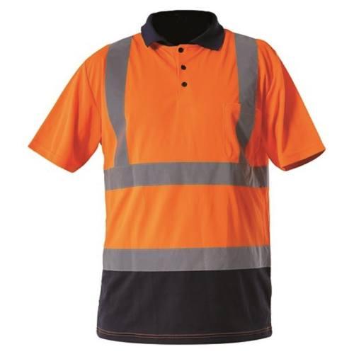 Tričko reflexné POLO, oranžové, L, LAHTI PRO