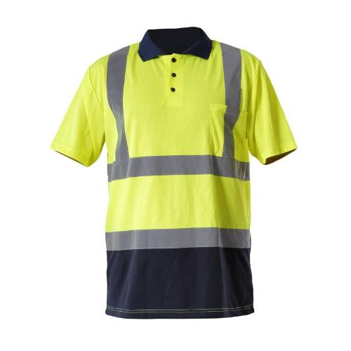 Tričko reflexné POLO, žlté, 3XL, LAHTI PRO